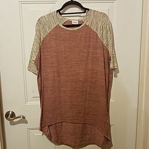 Lularoe extra small pink and gray Irma
